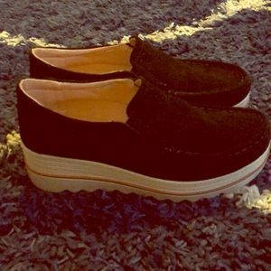 Shoes - Suede Wedge loafers/Sneakers